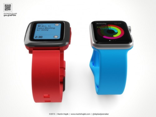 Pebble Time Apple Watch Bild1