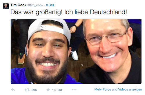 Tim Cook Twitter Deutschland Store Screenshot