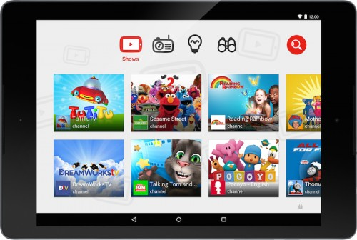YouTube Kids Screen Englisch