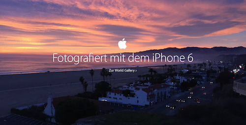 Apple Homepage Foto Rubrik