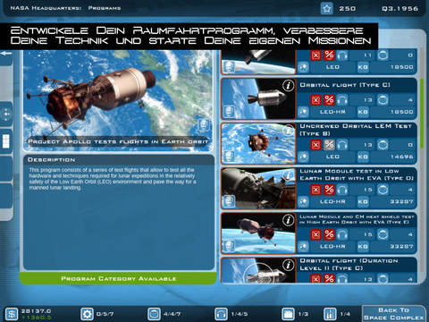 Buzz Aldrins Space Program Manager Screen1