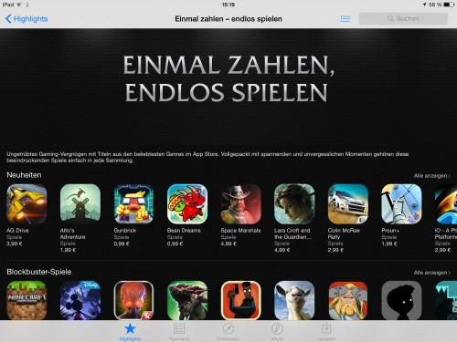 Premium Games App Store Feature