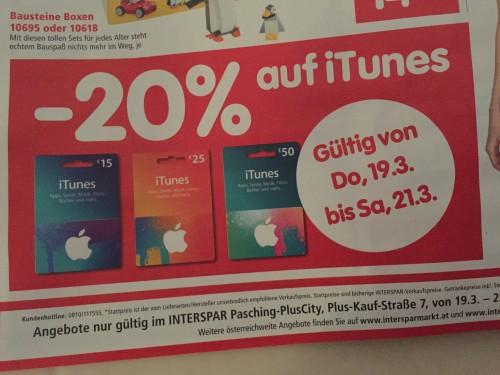 iTunes Karten Interspar 19 03