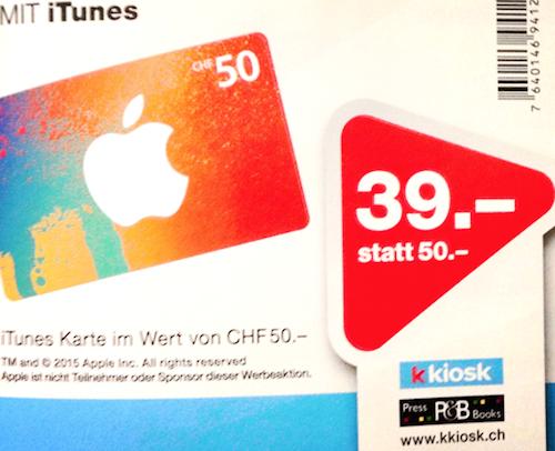 kkiosk iTunes Karten