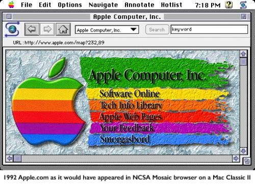 Erste Apple-Website