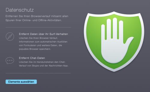 CleanMyMac Datenschutz