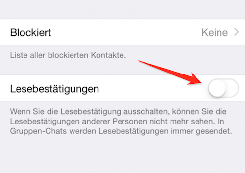 Lesebestätigung Whatsapp