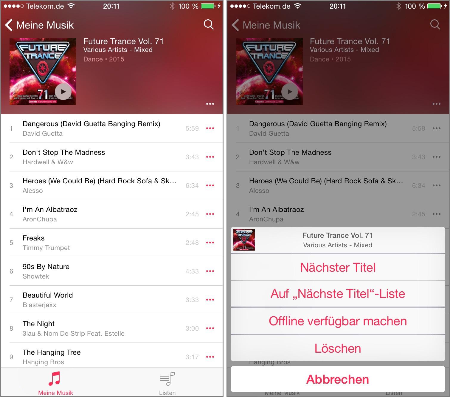 Musik-App-List
