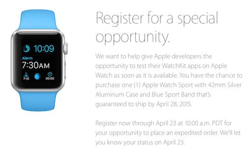 Watch Dev Aktion Apple
