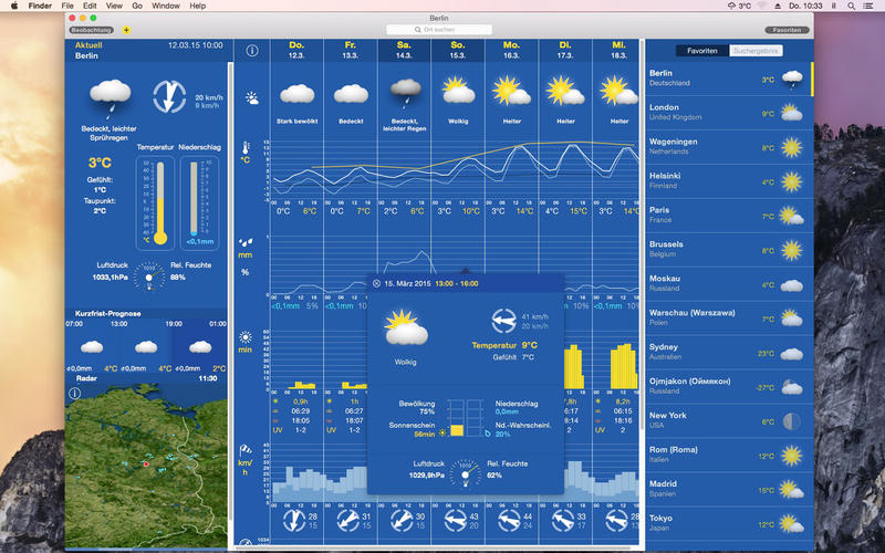 WeatherPro Mac Screen1