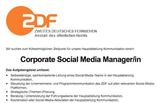 ZDF Social Media Manager