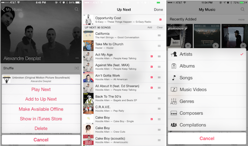 iOS 8.4 Musik App Ansicht