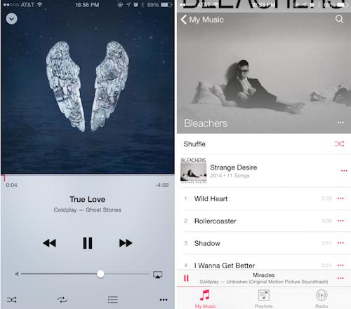 iOS 8.4 Musik App Look