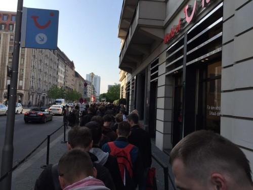 Schlange in Berlin