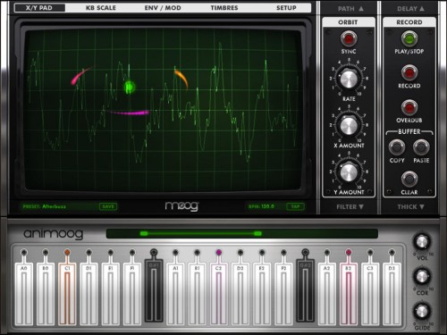 Animoog Screen