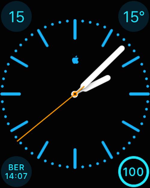 Apple Logo auf Watch Face Farbe