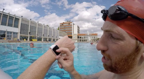 Apple Watch beim Schwimmen