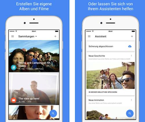 Google Fotos iOS Ansicht