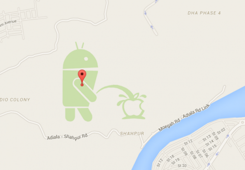 Google Maps Android pinkelt iOS