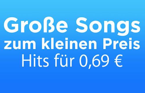 Grosse Songs kleiner Preis