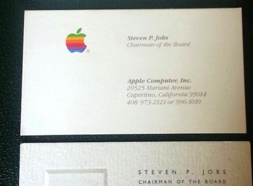 Visitenkarten Steve Jobs