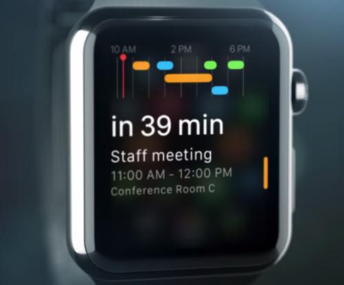 Apple Watch Fantastical Bild