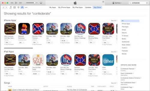 Apple und die Südstaaten-Flagge