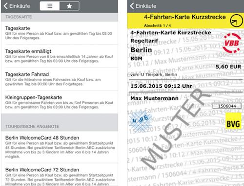 4 Fahrten Karte Bvg.Bvg App Fur Berlin Jetzt Mit Gunstigen 4 Fahrten Tickets