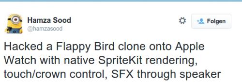 Flappy Bird Klon Apple Watch