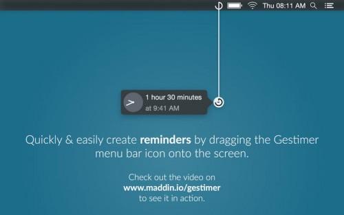 Gestimer Screen