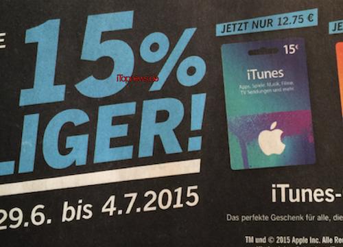 Lidl 29 06 iTunes Karten Aktion Tobias B