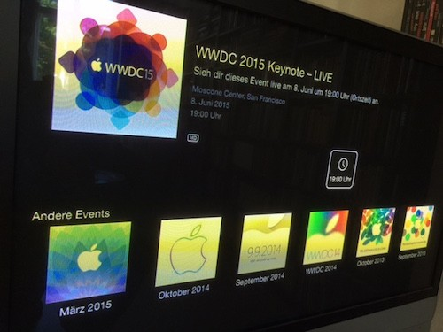 Livestream WWDC 2015 Apple TV