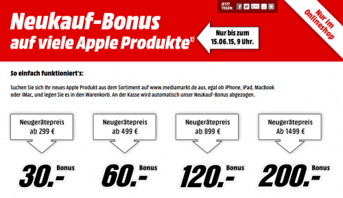 Media Markt Apple Sparen
