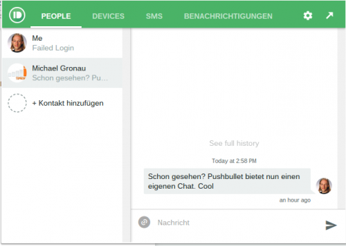 Pushbullet Chat