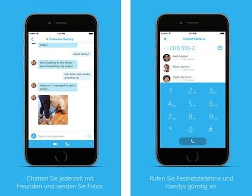 Skype iPhone Ansicht