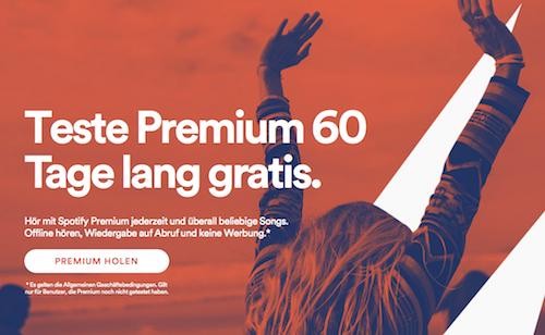 Spotify zwei Monate gratis