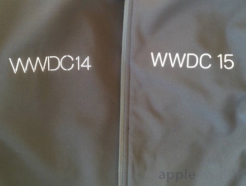 WWDC Jacke mit Font