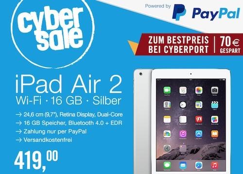 iPad Air 2 Angebot 10 06 2015