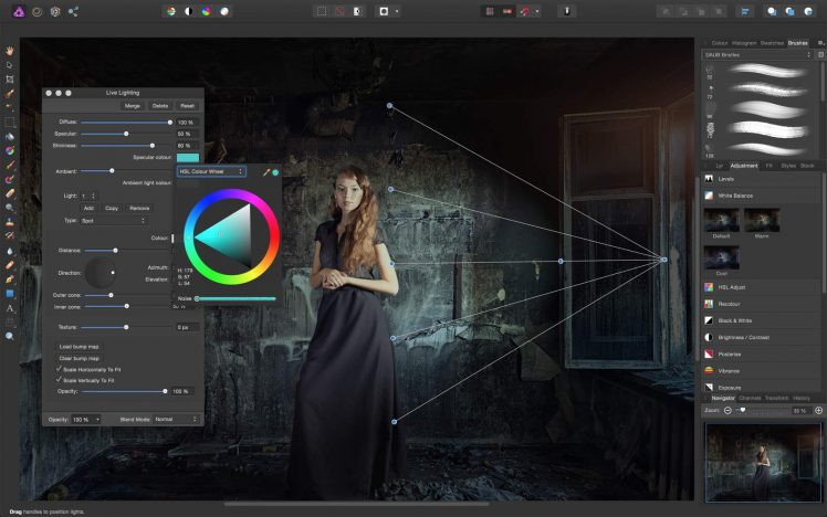 Affinity Photo Screen