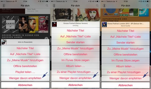 Apple Music Dislike