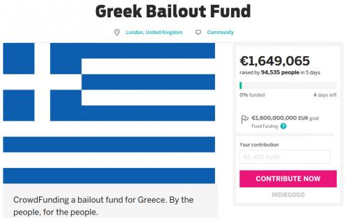 Greek Bailout Fund Indiegogo Bild