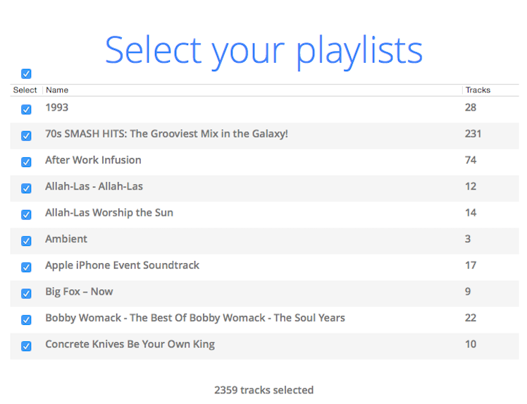Move to Apple select Playlist