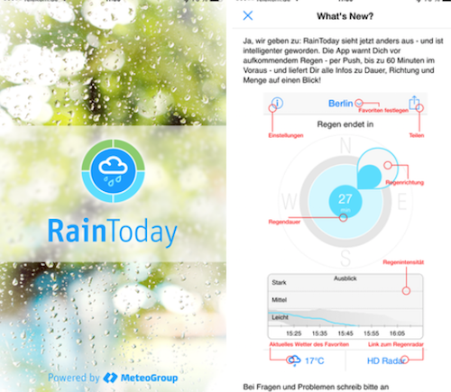 RainToday Screen 1