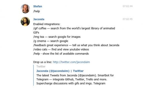 Telegram Bot Jaconda