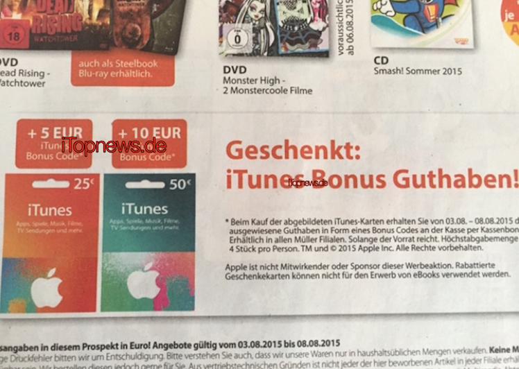 iTunes Karten Mueller Markt 03 08
