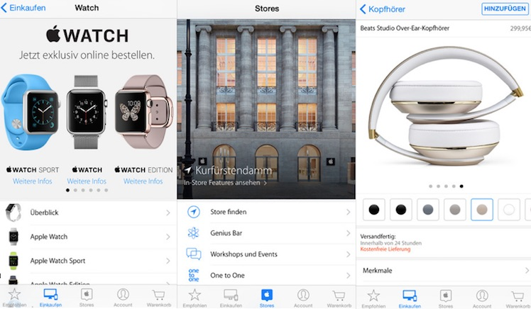 Apple Store App neu