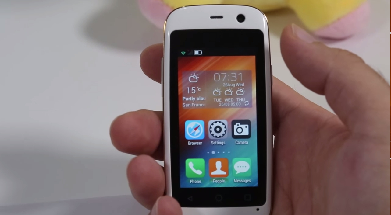 f r 71 euro q das kleinste smartphone der welt itopnews. Black Bedroom Furniture Sets. Home Design Ideas