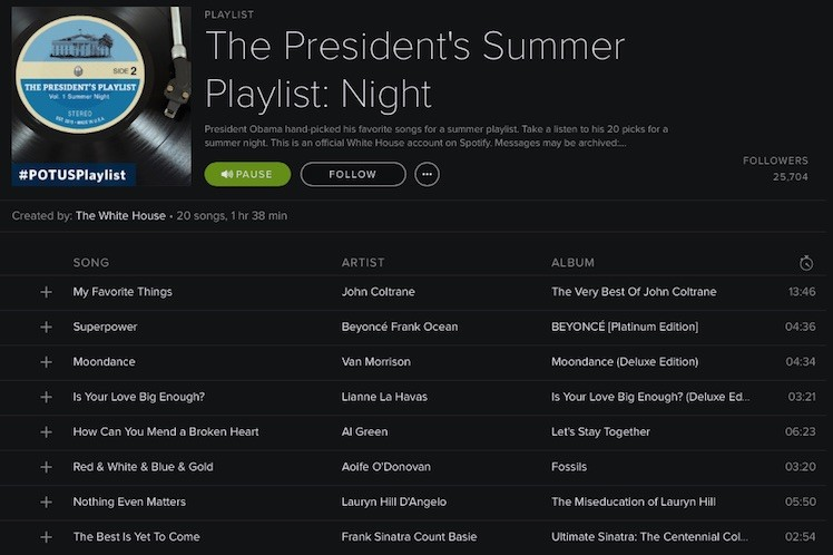 Obama Spotify