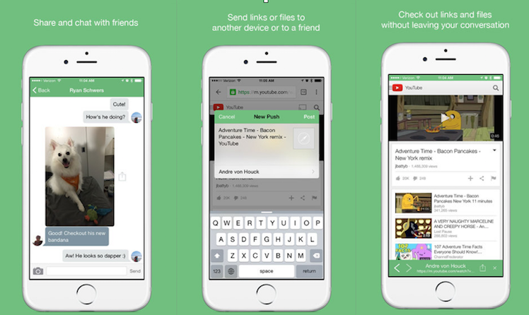 Pushbullet Ansicht iPhone
