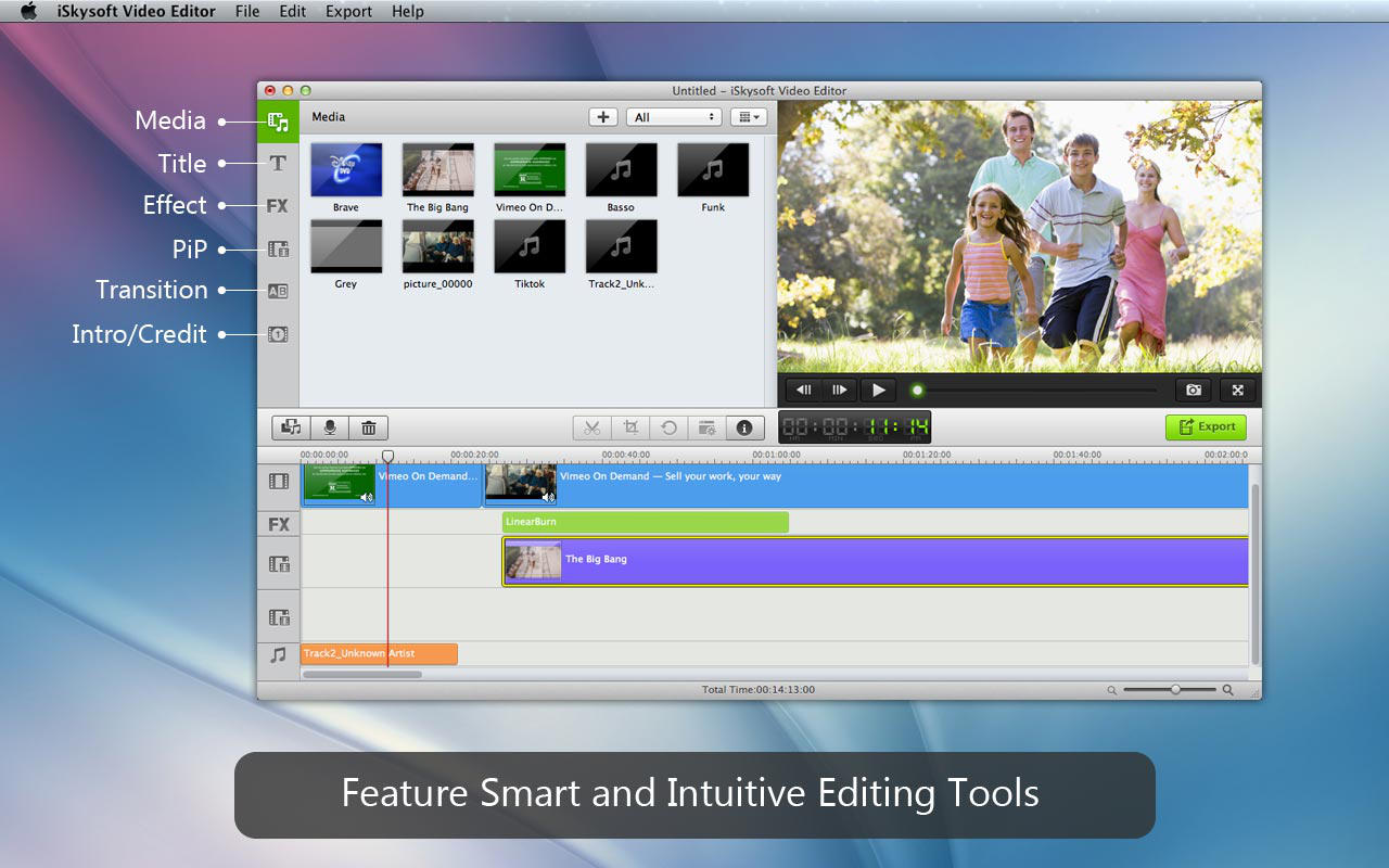 Skysoft Video Editor Screen